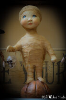 SOLD ~ Trick or Treater Kid Large Mummy Boy