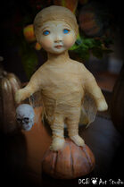 SOLD ~Trick or Treater Kid Large Mummy Boy