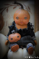 "SOLD ~ ""Cinnamon"" Baby Pumpkin and her loyal friend"