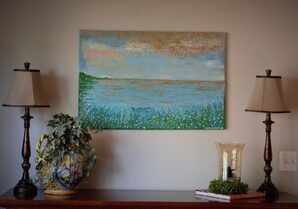 """Glorious meadow by the sea"" ~ SOLD"